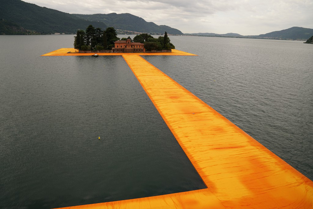Christo's Floating Pier Installation Lets You Walk on Water Across Italian Lake