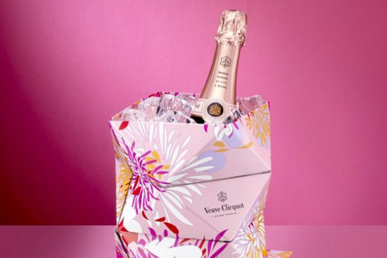 Veuve Clicquot Foldable Champagne Bucket For Rosé