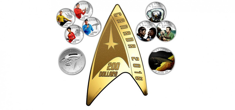 Royal Canadian Mint Celebrates the 50th Anniversary of Star Trek With Special Coin Collection