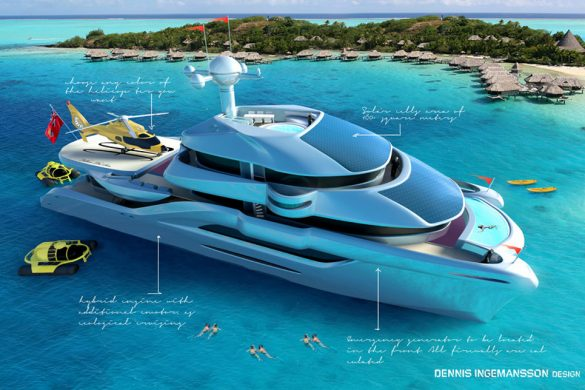 Follow The Sun – Ultra-Luxurious Catamaran Concept by Dennis Ingemansson