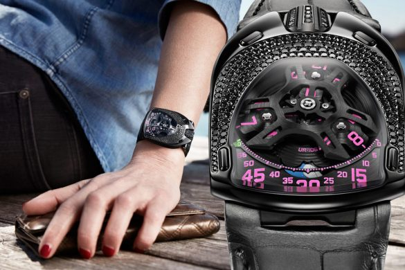 Urwerk's UR-106 Black Pink Lotus Watch