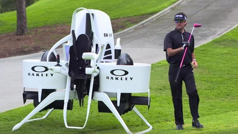 Bubba Watson's Golf Cart Jet Pack