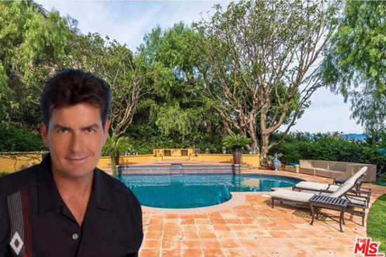 Charlie Sheen Villa In Beverly Hills