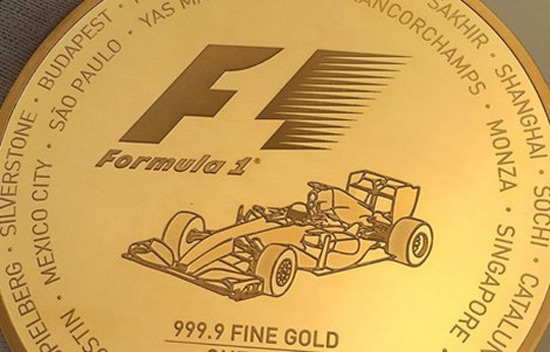 F1 Gold Coin