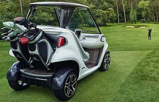 Mercedes benz style edition garia golf cart extravaganzi for Mercedes benz golf cart
