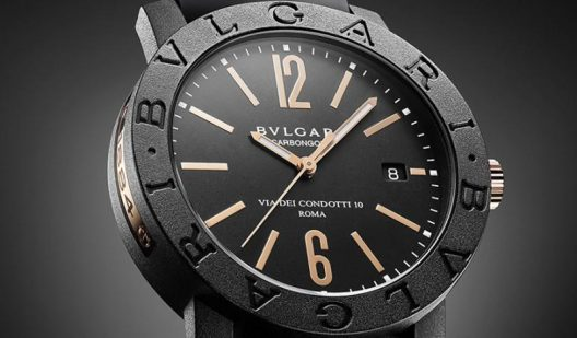 Bvlgari Bvlgari Carbon Gold Timepiece With Woven Strap