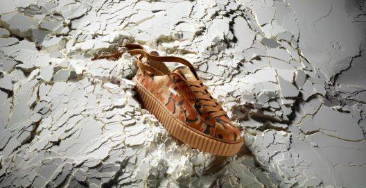 Puma Suede Platform Sneakers Receives Golden Treatment