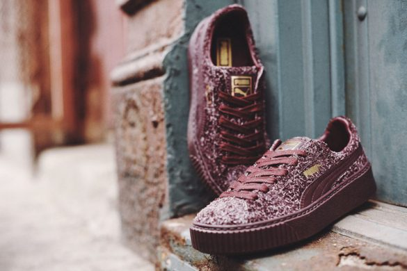 Puma Suede Platform Sneakers Receives Golden Treatment