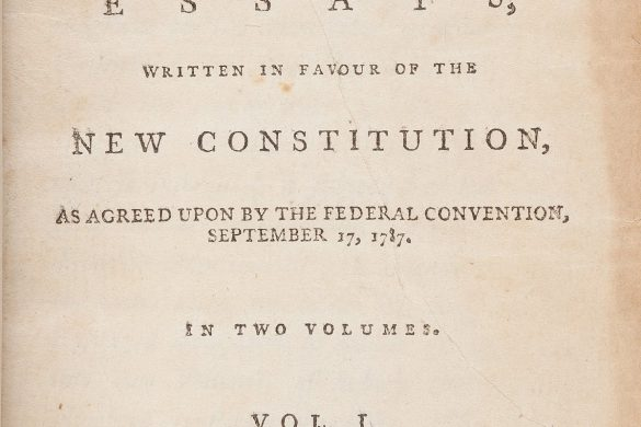 Madison and Hamilton's The Federalist