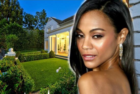 Zoe Saldana Beverly Hills Villa