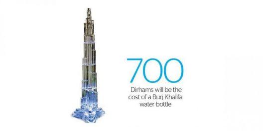 Burj Khalifa Water Bottle