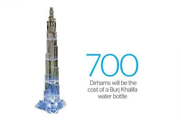 Burj Khalifa Water Bottle
