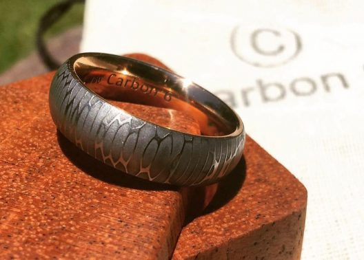 Carbon 6 Hand Forged Carbon Fiber Rings