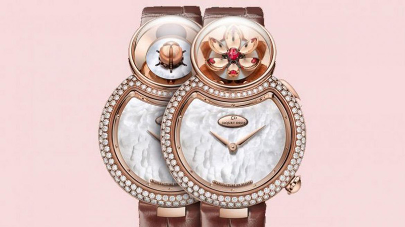 Jaquet Droz's Blooming Lady 8 Flower Watch