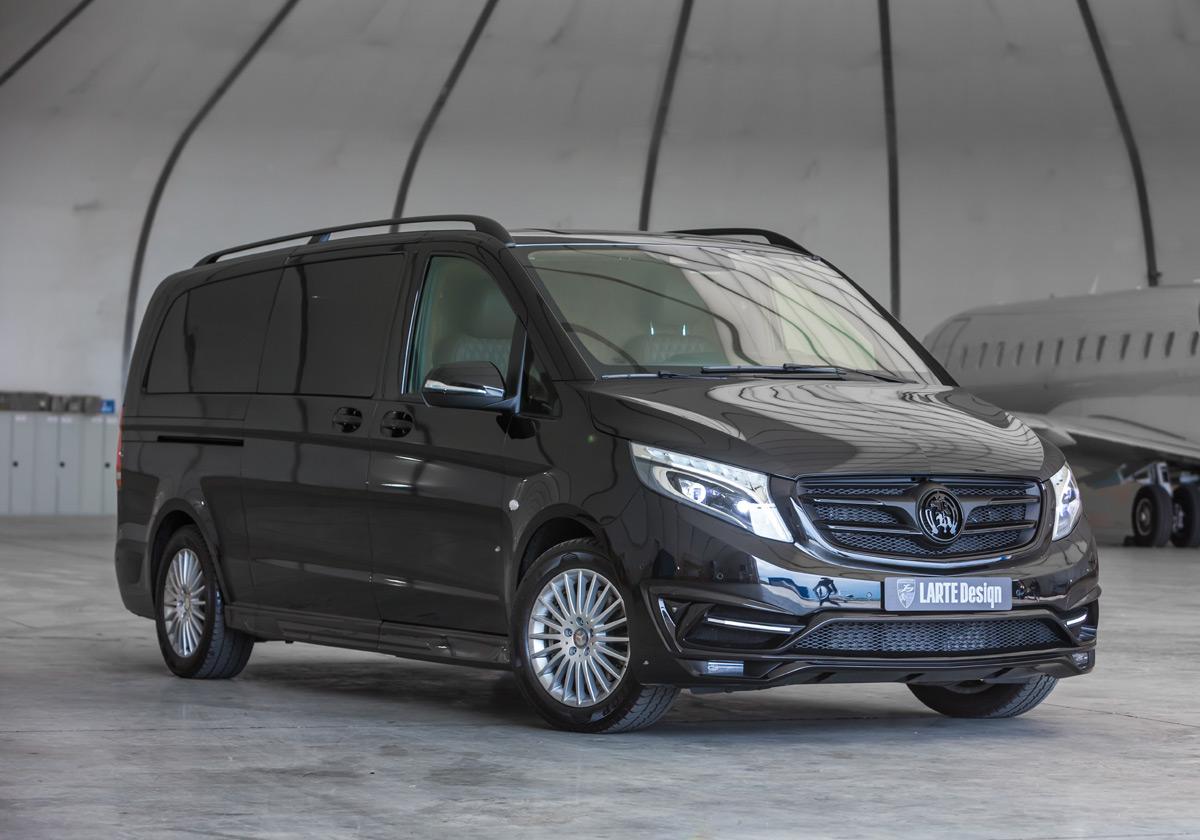 """LARTE Design Presents Its """"Black Crystal"""" – Mercedes Benz V-class Minivan"""