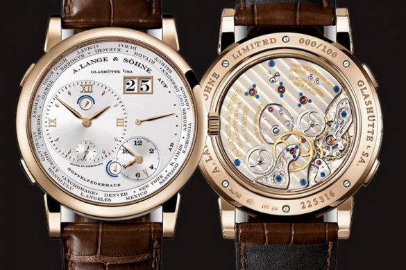 A. Lange & Söhne Lange 1 Time Zone Honey Gold