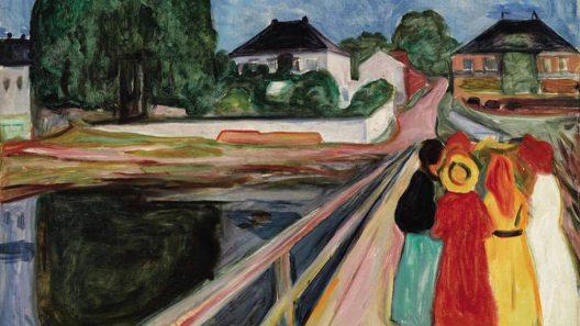 Munich's Girls on the Bridge Canvas