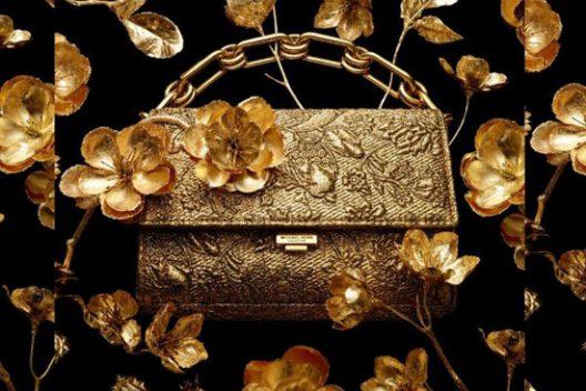 Yasmeen Golden Clutch by Michael Kors