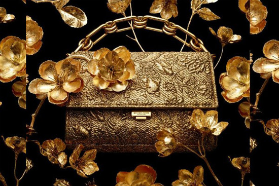 Yasmeen Golden Clutch by Michael Kors