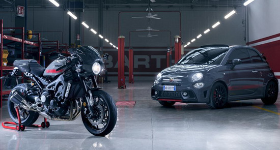 Abarth 695 Tributo XSR In Honor of Yamaha XSR 900