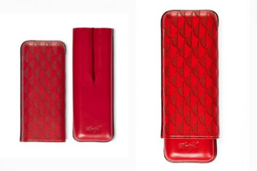 Davidoff Year of the Rooster Cigar Case XL-2 Red Leather