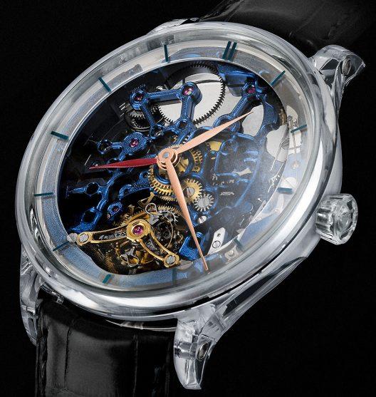 H. Moser & Cie. Venturer Tourbillon Dual Time Sapphire Blue Skeleton