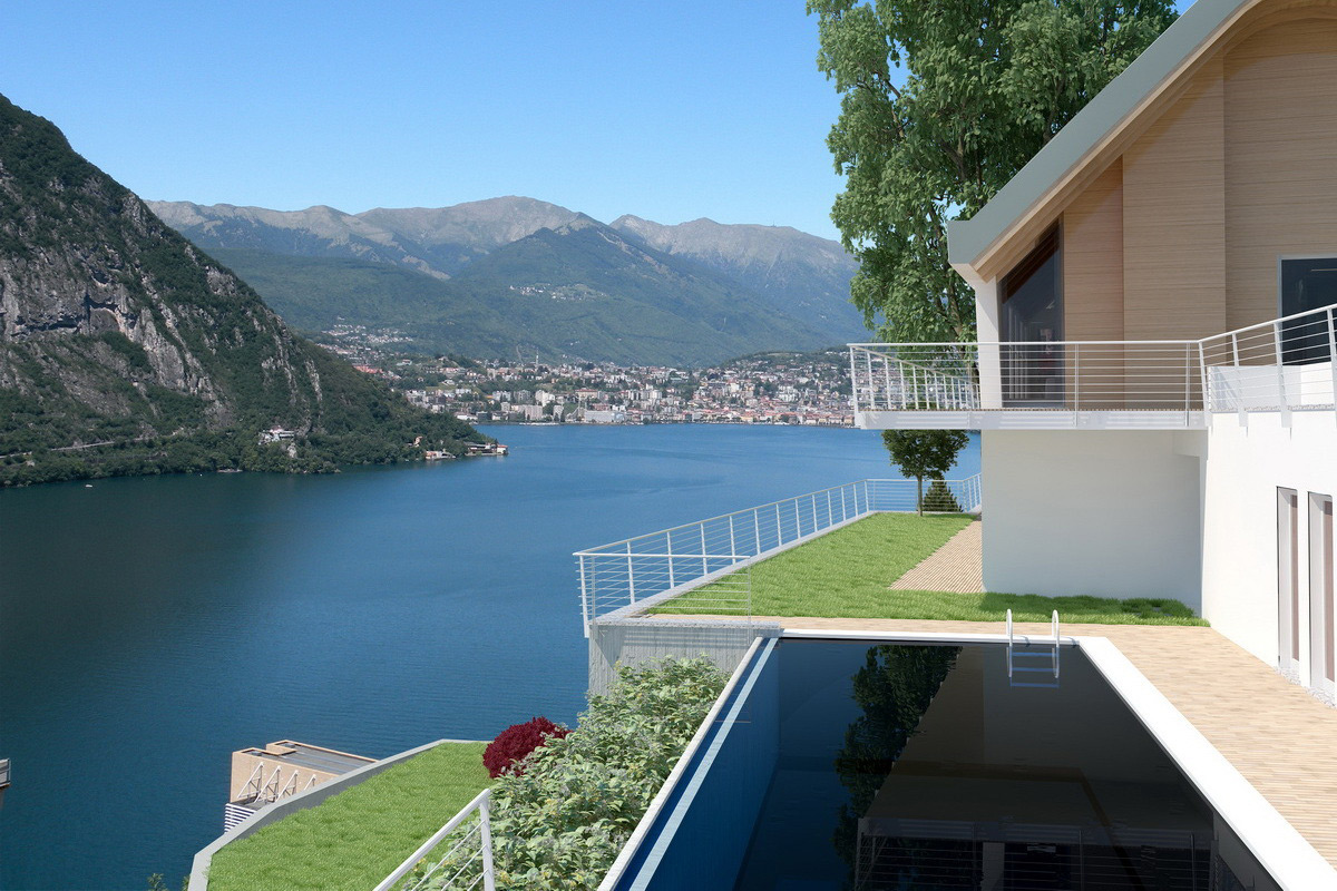 Lake lugano villa on sale for 8 million swiss francs for Appartamenti di design