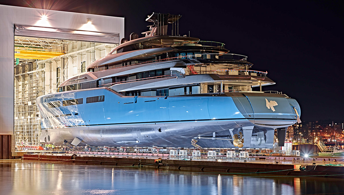 Abeking Amp Rasmussen Launches 321 Foot Aviva Yacht