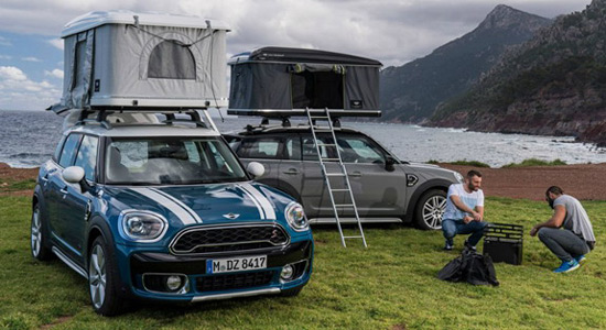 Adventurous Mini Countryman AirTop With Tent On The Roof
