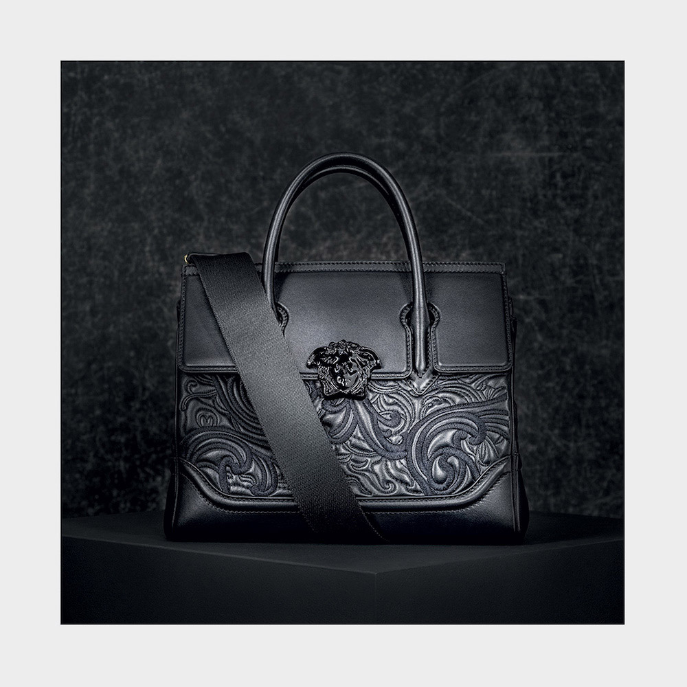 18001b7ff060 Versace s New Baroque Embroidered Palazzo Empire Bag - eXtravaganzi