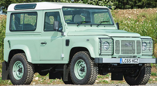 Land Rover Defender 90 Heritage Owned by Rowan Atkinson At Auction