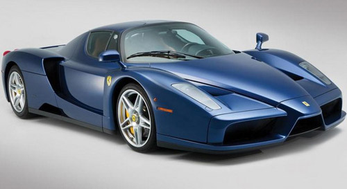 The Only Blue Ferrari Enzo To Be Auctioned Soon
