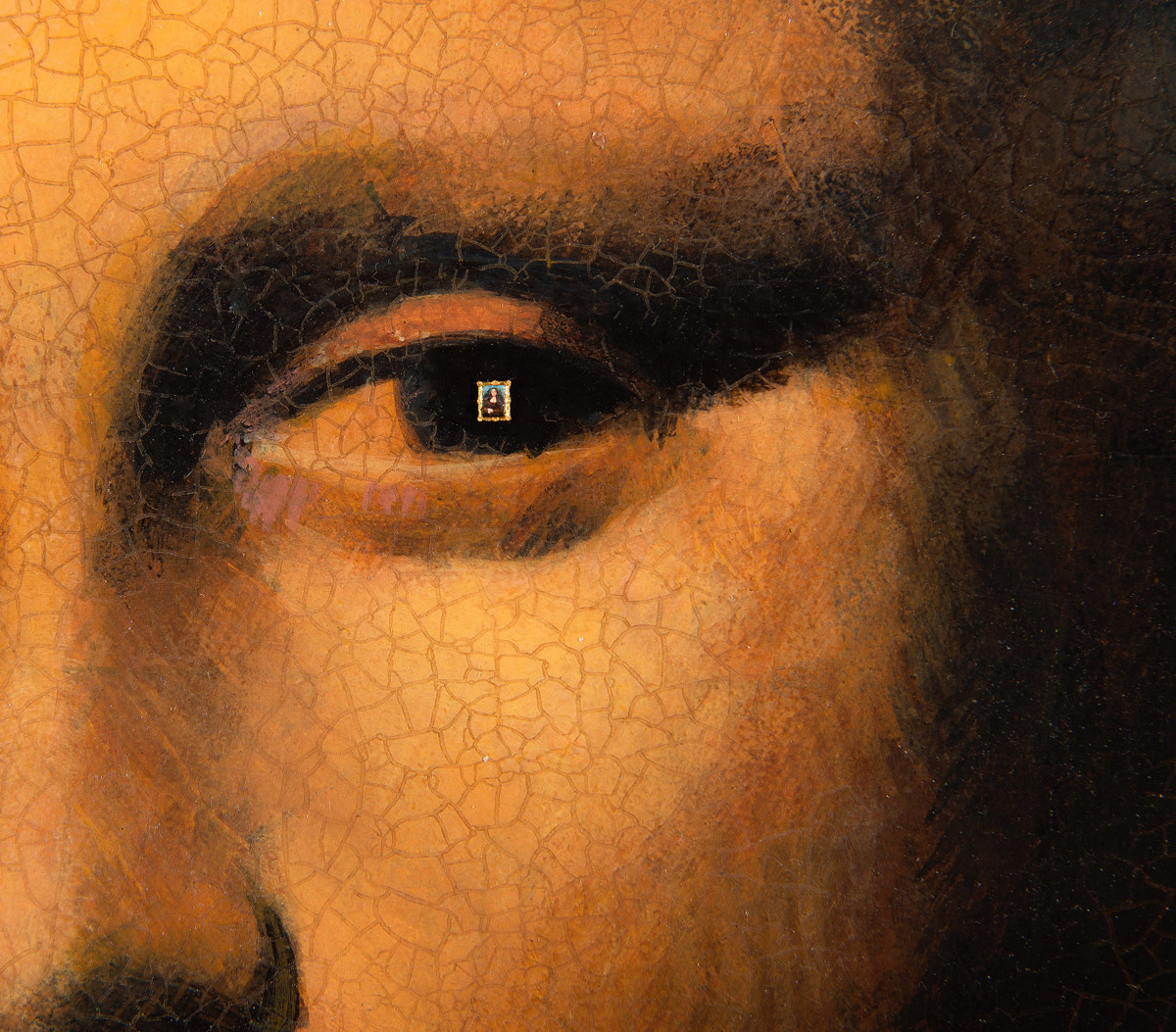 World S Smallest Mona Lisa In Eye Of Forged Mona Lisa