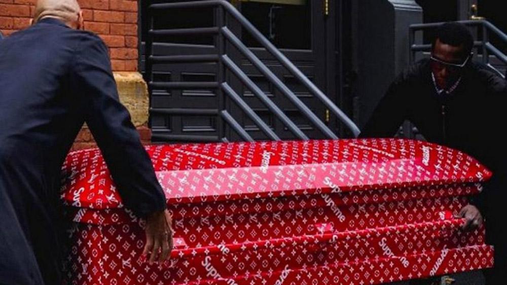 Rest In Style Louis Vuitton X Supreme Coffin Extravaganzi