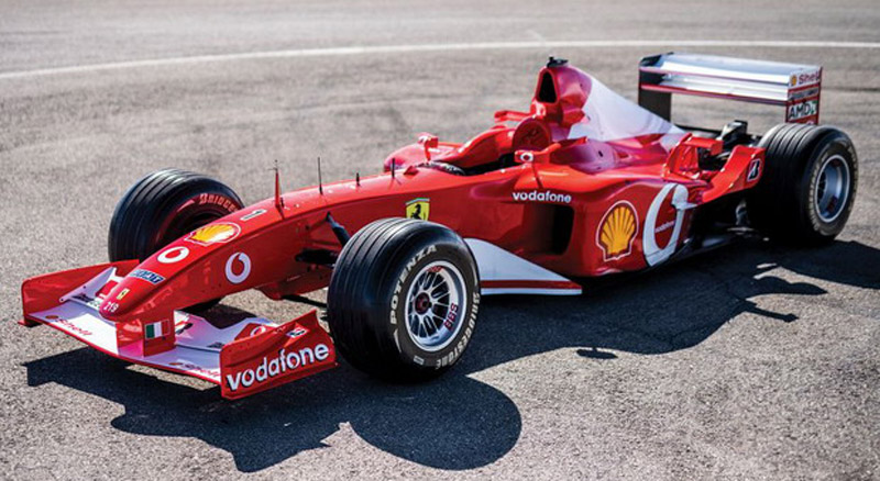 Michael Schumacher's Ferrari F2002 Sold For $6,643,750
