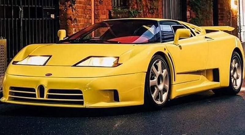 Yellow Bugatti EB 110 Super Sport With Red Interior On Sale